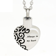 Marlary Hot Selling Religious Jewelry Engravable Heart Cremation Jewelry