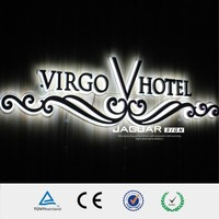 hotel sign board LED alphabet acrylic channel letters for decorative