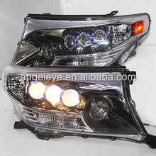 Land Cruiser LC200 FJ200 LED Headlight with Projector Lens 2008-2013 Year Chrome housing DB