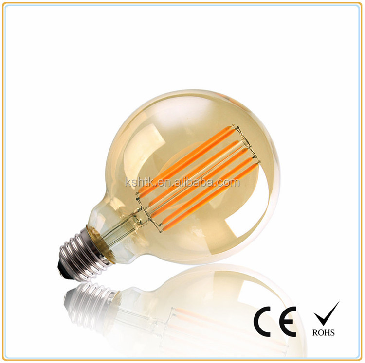 Dimmable 4W 6W 8W G80 vintage LED Filament lamp E27 E26
