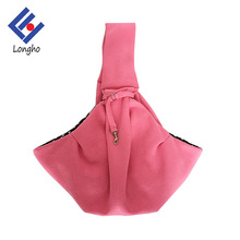 2017 hot new products simple sling bag dog, cool lining fashion pet travel sling carrier with adjustable hook