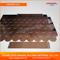 Home-decoration Wanael Fish Scale Asphalt Copper Colored Metal Roof
