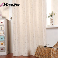 Embroidery window cotton curtain