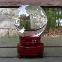 Transparent Crystal Ball Custom Crystal Craft