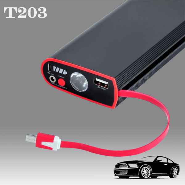 400A Peak Current Car Battery Jump Starter 12v Rechargeable Battery Pack and 8000mAh Portable Car Charger