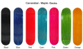 100% Canadian maple skateboard decks china