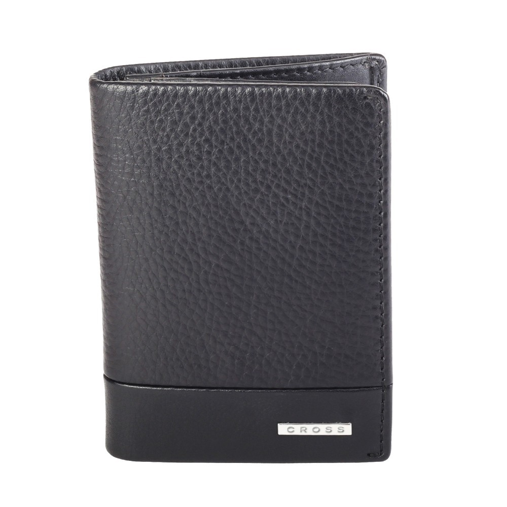 Cross Men's Genuine Leather Card Case with Over Flap