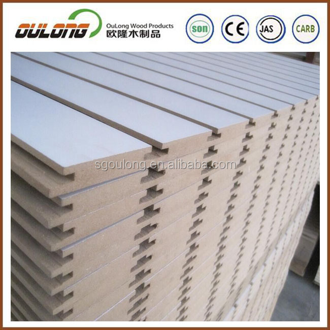 melamine slotted mdf board/mdf slat/low price mdf slat wall panel