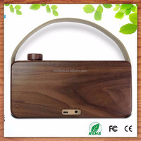 wedding door gift natural classic wooden bluetooth speaker with alarm clock