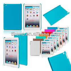 PC hard cover case for ipad mini with Solid color