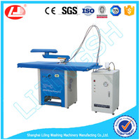 Dry cleaning ironing machine for shirts