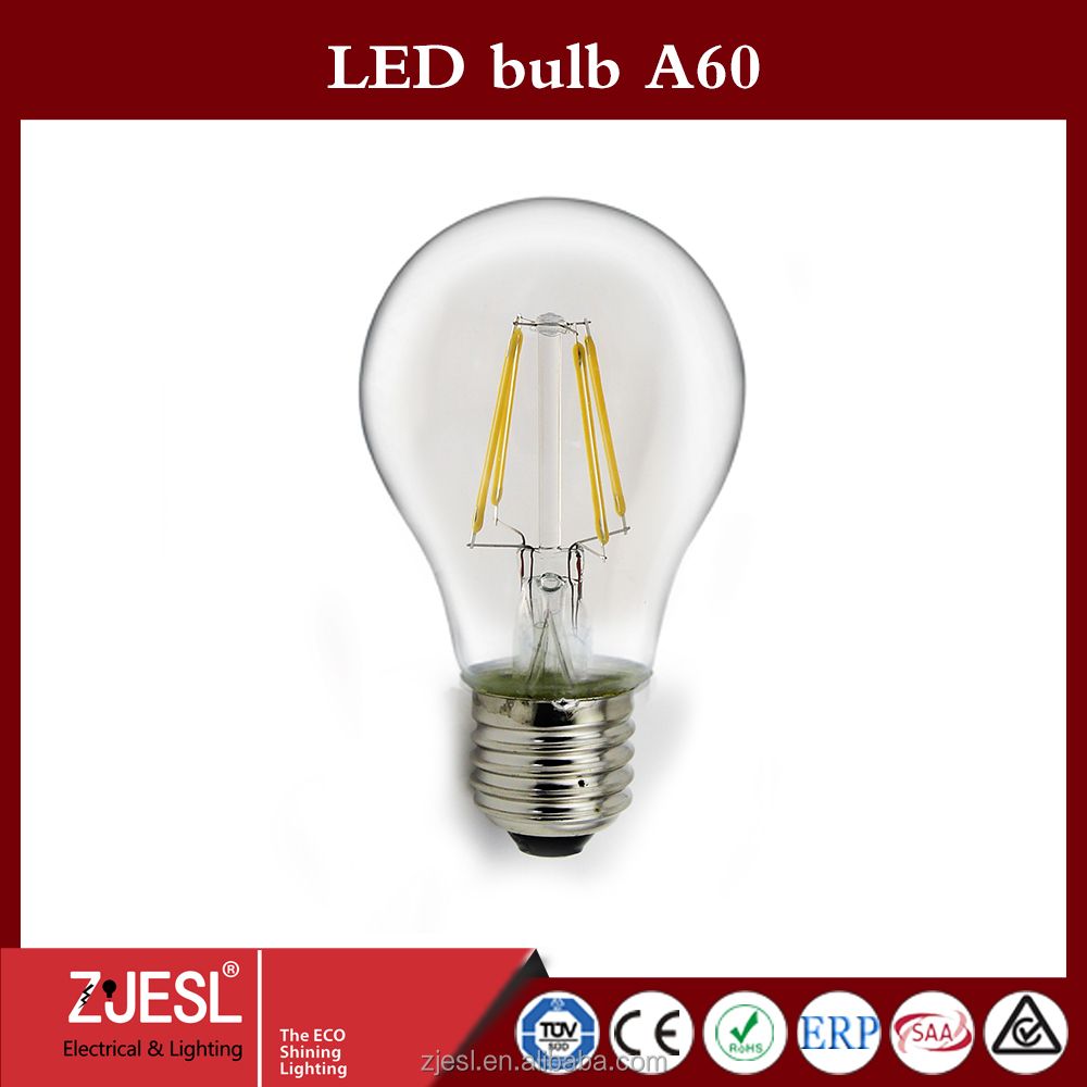 Hight Brightness E27 led bulb lamps 4w led bulb <strong>lights</strong> AC 230V warm/cold white led filament bulb