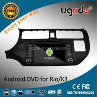 OEM HD touch screen 2 din android car audio speaker MP3 Player for Kia K3 /Rio accessories 2012/ 2013 /2014