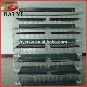 Factory Supply Trapezoidal Quail Cage and Equipment (Supply Free Assemble Tools)