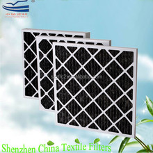 Air intake odor removal activated carbon pleated filters