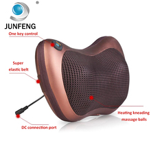electric neck and shoulder massager machine neck pillow Heat car massage pillow seat cushion heated seat cushion