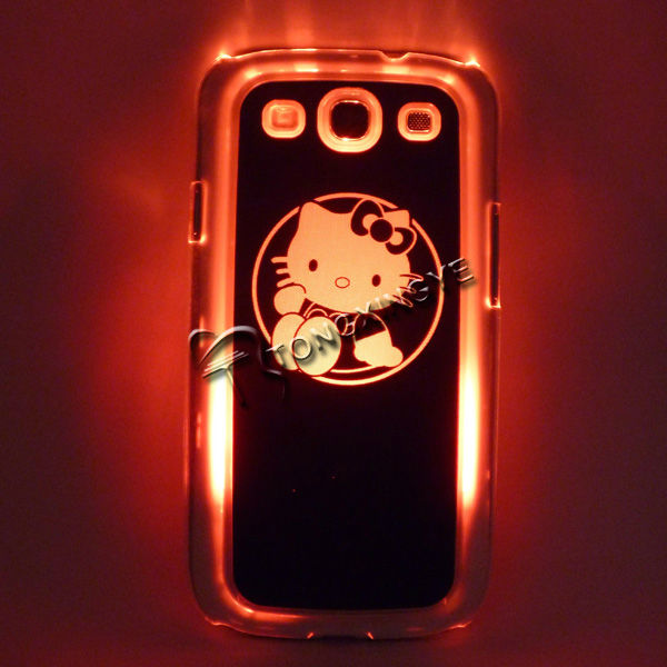 2013,New arriving!LED hello kitty case for samsung i9300 galaxy s3,logo available