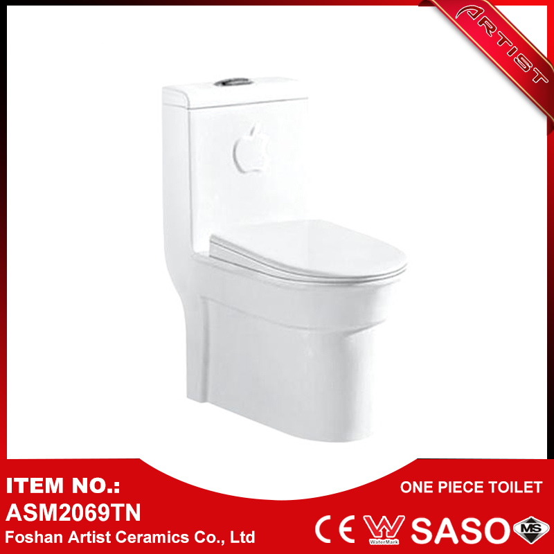 Floor Mounted New Model Vitreous China Pedestal Water Closet