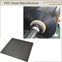 High density plastic 0.2-0.6mm thickness sell black pvc sheet