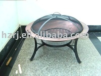 fire basket round BBQ grill with cover