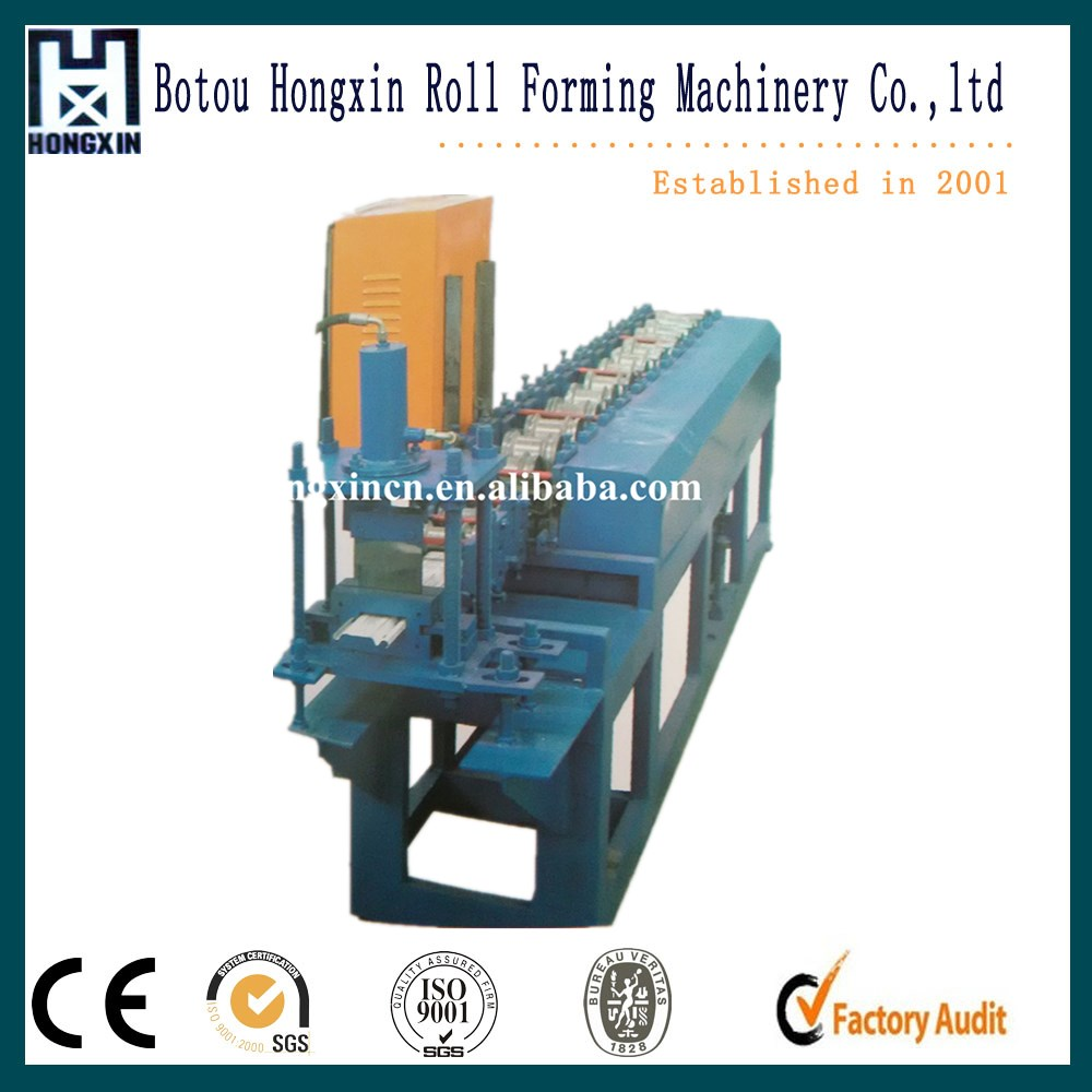 Simple Forming Stations Roller Shutter Door Cold Roll Forming Machine With Manual Decoiler