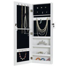 White Wall Mount Storage Organizer Mirrored Jewellery Cabinets