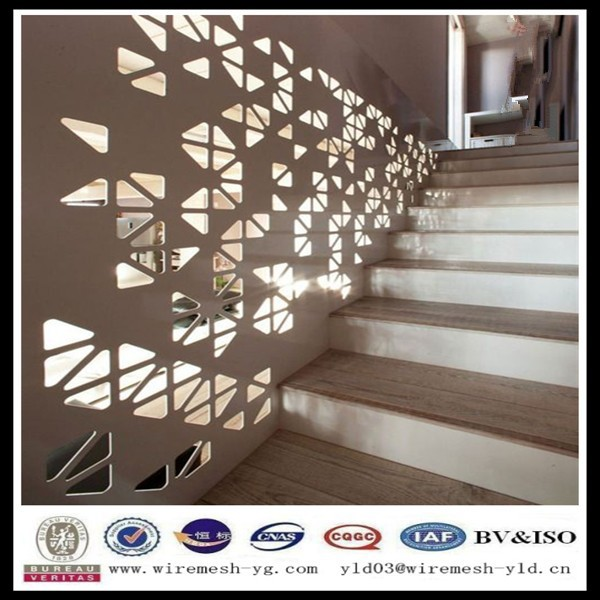 Iron steel powder coated decorative perforated sheets metal fence panels(ISO9001)