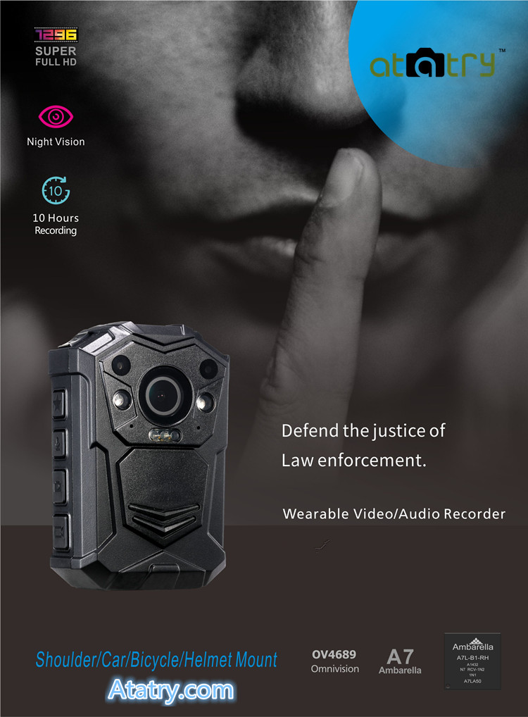 1296p HD Video Quality body cam amazon best wearable spy camera Rugged, Reliable Design