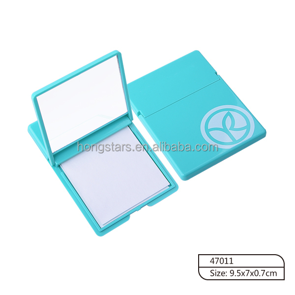 Hotsale plastic case with mirror blotting paper face blotting sheets for face