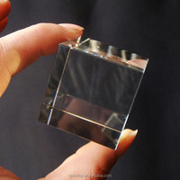 China Manufacture 3D Laser Engraved Crystal Truck Gift Cube Blocks