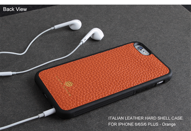 Italian cow leather cell phone cases manufacturers for iphone 6s/6s plus