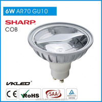 Wide beam angle 95-265V led Gu10 spotlight AR70