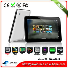 Dual core 10 inch A20 tablet pc with dual camera in low price from Shenzhen GX-A1011