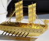 photo acid etch metal craft brass ship model Christmas Ornaments