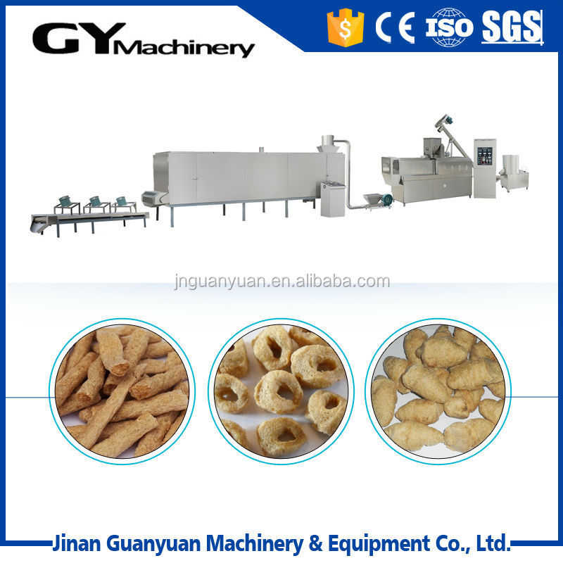New energy powered soy protein machine/protein meat production line