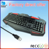 Best quality multimedia wired desktop laser keyboard