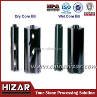 Laser welded wet core bits with roof segment for concrete/diamond core drill bits for granite marble glass