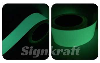 Hot sale2 hours glow in dark tape label for night safety guiding, car sticker, stage decoration, fishing bait