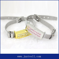 Crystal Jewelry Wrist band Pen drive 8gb crystal usb flash drive bracelet