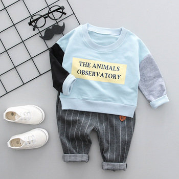 Quality kids cotton pants outfits clothes baby boys fashion cartoon suit