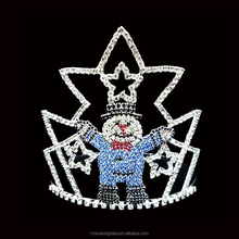 Custom snowman and star Christmas pageant Tiara and Crown