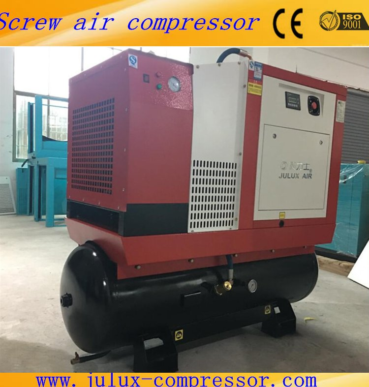 15kw 20hp Energy Saving Combined Screw Air Compressor With Air Tank And Air Dryer