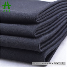 Mulinsen Textile High Quality Formal Black Sateen Cotton Short Pants Fabric