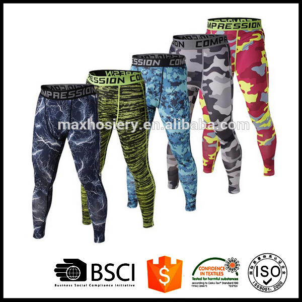 Men's compression pants sports running tights basketball gym pants bodybuilding jogger jogging skinny leggings trousers