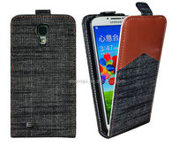 Hot Product !!! Jean flip leather case for samsung galaxy core plus