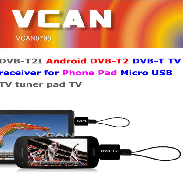 New android usb tv tuner for laptop DVB-T2 DVB-T for Phone Pad Micro USB TV tuner wholesale