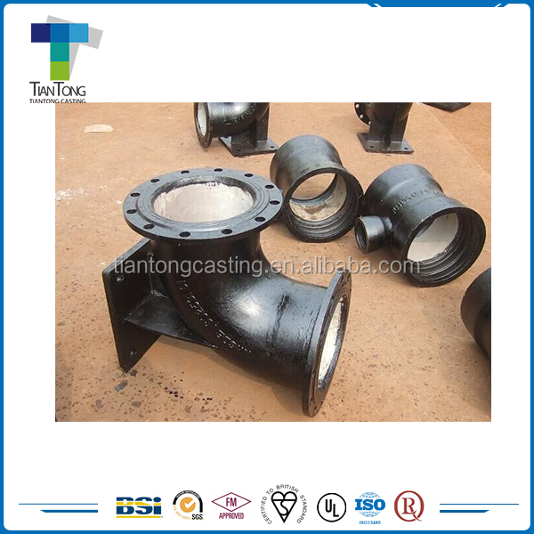 Ductile Iron Double Flanged 90 Degree Duckfoot Bend Pipe Fitting