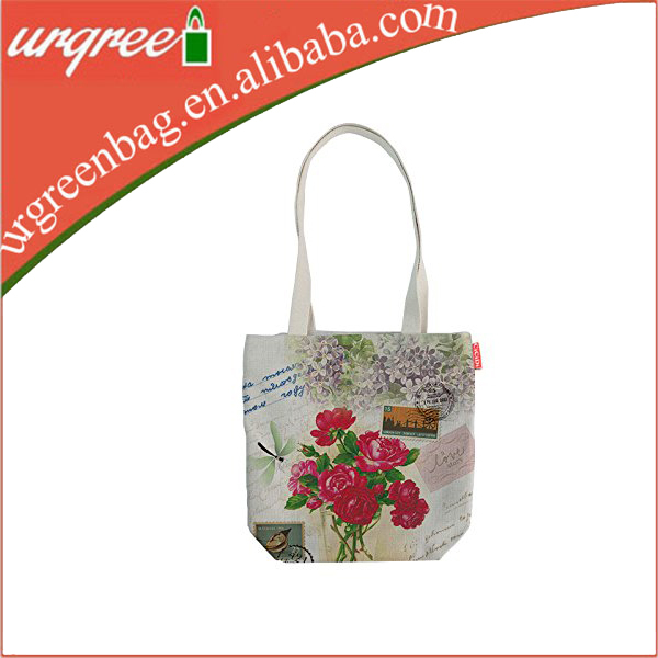 Vintage Floral Muslin Cotton Bag