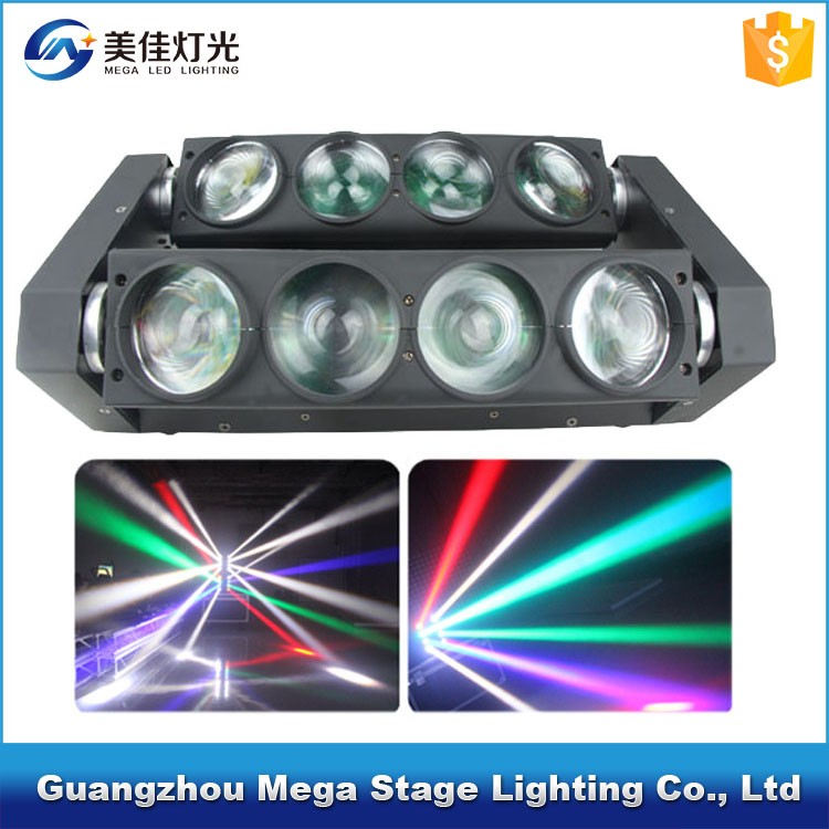 China manufacturer CE 8x10w rgbw 4in1 spider beam led rohs moving head light