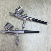 2015 Most popular Double nozzle spray gun ningbo air tools new patent products paint remover digital nail art printer